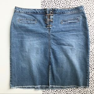 Dresses & Skirts - DENIM SKIRT Straight Laces Up Size 20w